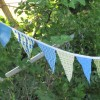 My Quick-n-Easy Fabric Bunting Banner {Tutorial}