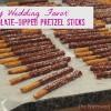 Chocolate-Dipped Pretzels: Edible Wedding Favors