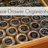 Spice Drawer Organization with Mini Jelly Jars