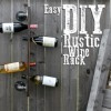 How To Make A Rustic Vertical Wine Rack
