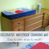 Sew It:  Decorative Waterproof Changing Pad For the Nursery