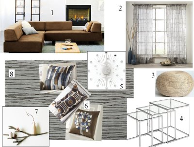 West Elm Modern Living Room Mood Board