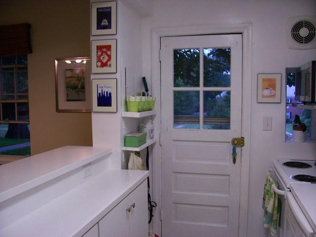 DIY Shelves Apartment Kitchen Storage
