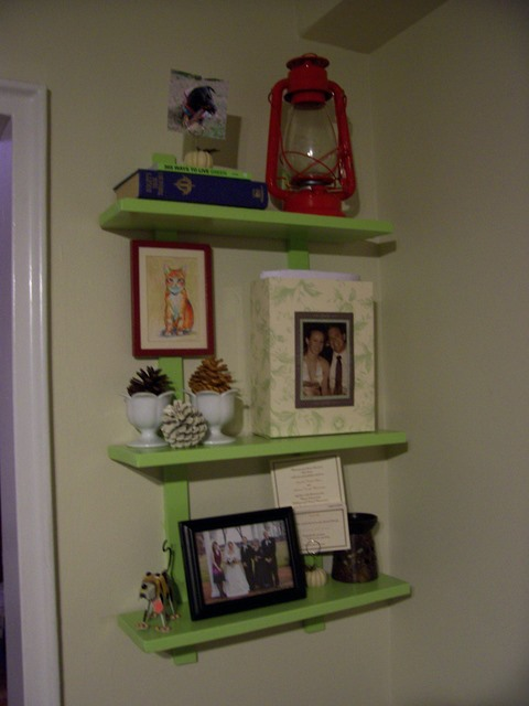 White Floating Shelf For A Boys Room