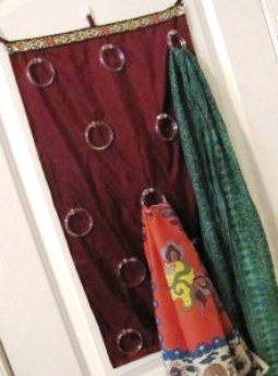 DIY Hanging Scarf Storage Solution | The Borrowed Abode