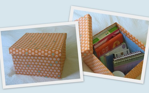 Decorative Boxes Storage Enchanting How To Diy Decorative Storage Box  The Borrowed Abodethe Review