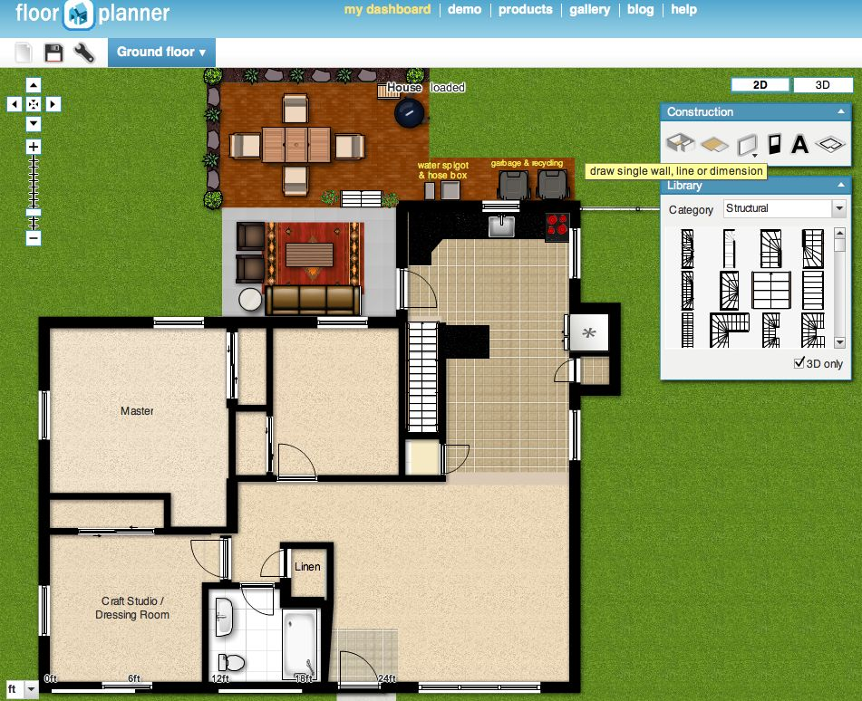 Floorplanner screen shot the borrowed abodethe borrowed Create house floor plans free