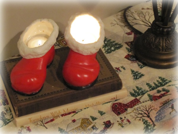 Christmas Shoes candle holders