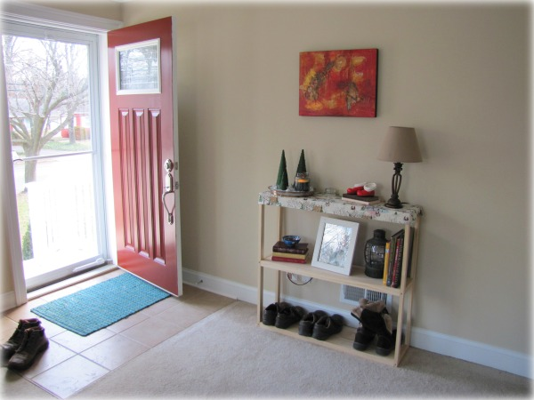 Living Room Front Door EntrywayThe Borrowed Abode | The Borrowed Abode