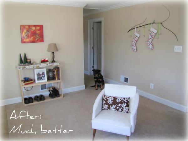 Living Room entryway bookshelfThe Borrowed Abode | The Borrowed Abode