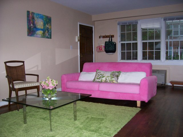Watermelon Living Room Old Apartment