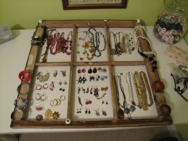 Window Frame Jewelry Display Tutorial The Borrowed AbodeThe