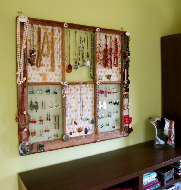 Window Frame Jewelry Display Tutorial The Borrowed AbodeThe Extraordinary How To Make A Jewelry Stand Display