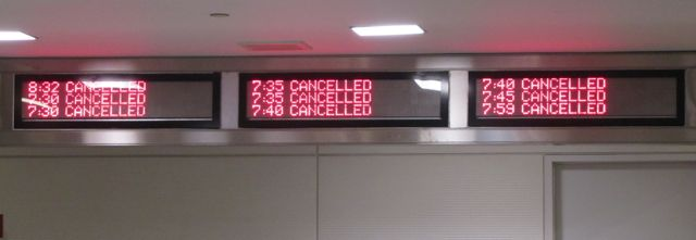 flight cancellation signs US Air