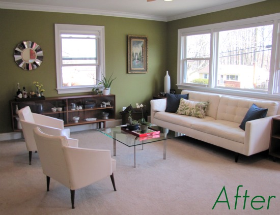 Home design interior monnie living rooms painted green - Green paint colors for living room ...