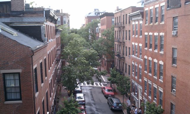 view of beacon hill from 4th floor