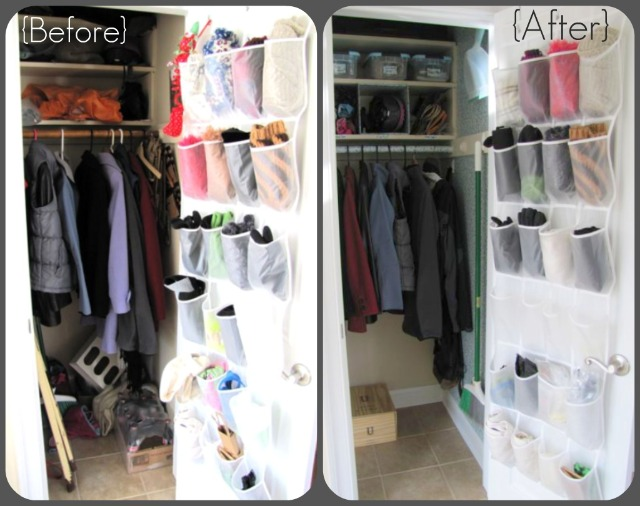 Coat Closet Before And After The Borrowed Abodethe
