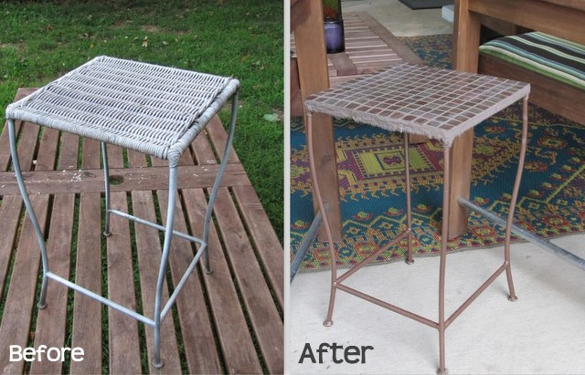 Tile Table Before and After