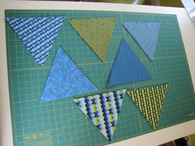 fabric banner pennant triangles