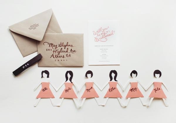 cute useful bridesmaid invitations the borrowed abodethe