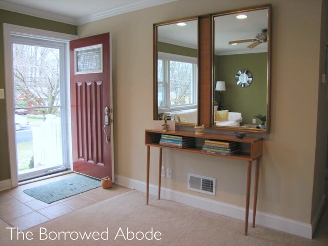 Mid Century Modern Foyer : Before after a mid century modern entryway the