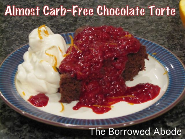 Almost Carb-Free Chocolate Torte