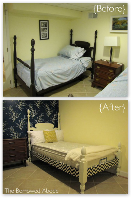 Antique Twin Bed Frame Before After