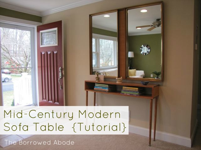 Build a Mid-Century Modern Sofa Table (Tutorial)