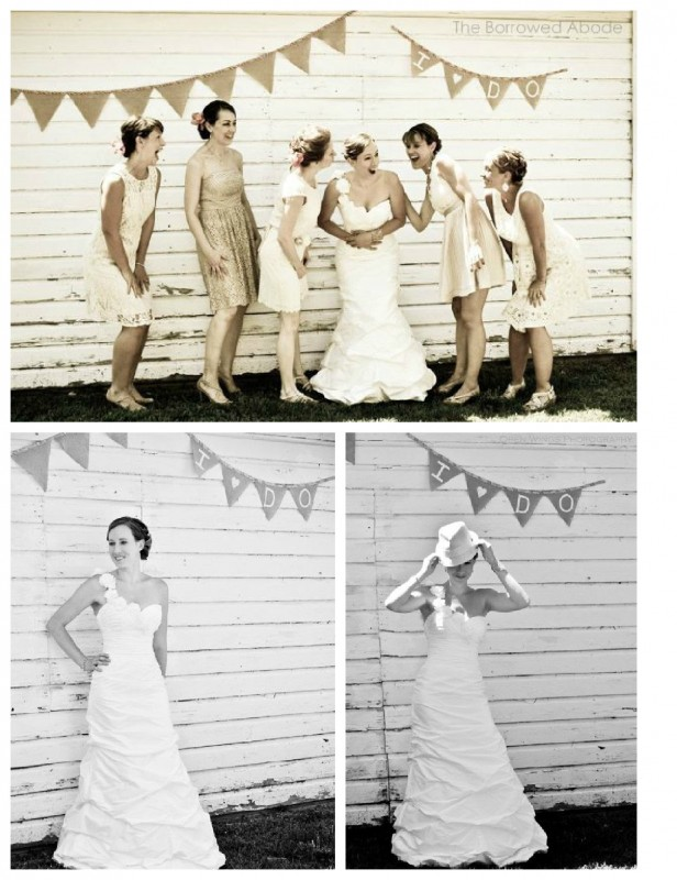 Rustic Barn Bridesmaid Wedding Photos | TheBorrowedAbode.com