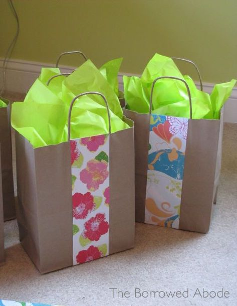 Decorate Plain Gift Bags with Scrapbook Paper