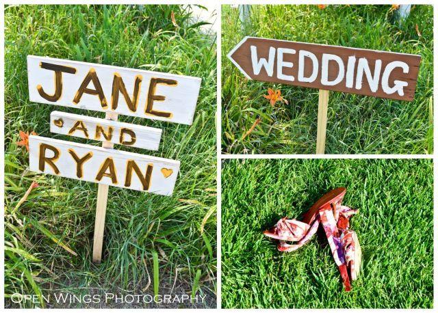Handmade Rustic Wedding Sign | TheBorrowedAbode.com
