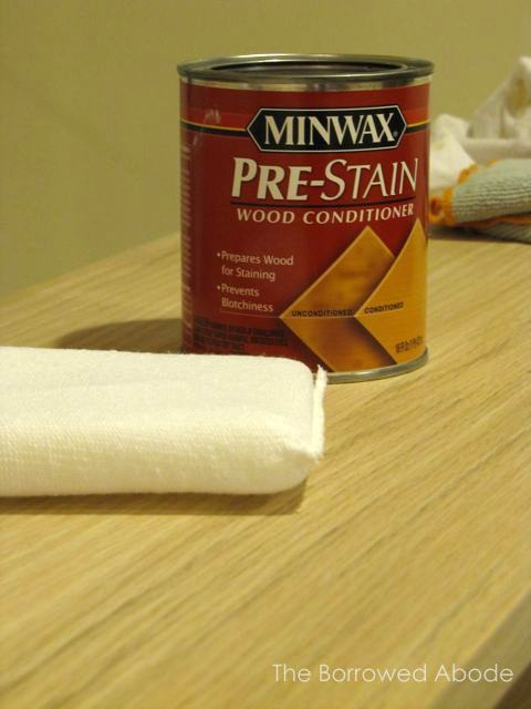 Apply Pre-Stain Wood Conditioner