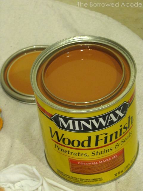 Colonial Maple Minwax Wood Finish