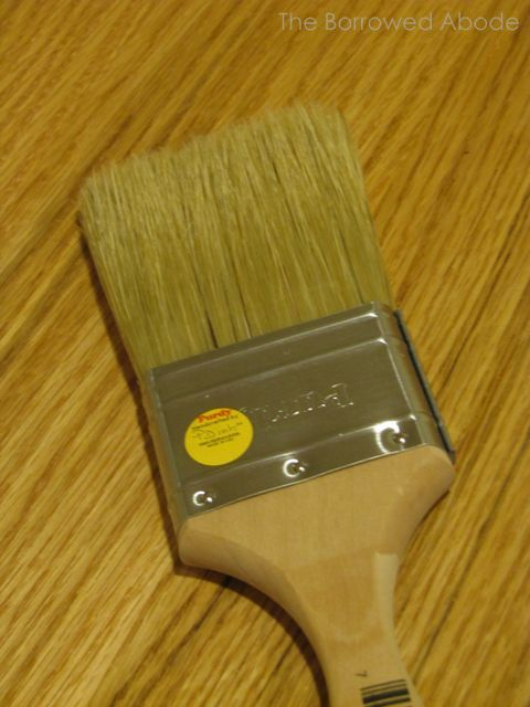Natural Bristle Brush Apply Polyurethane