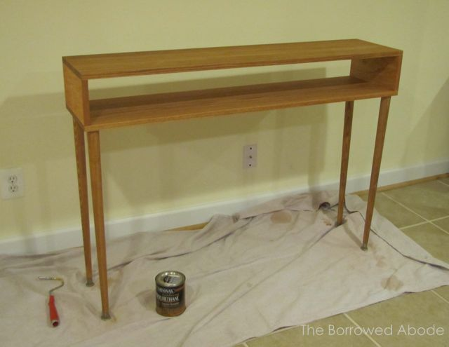 Sofa Table Polyurethane Drying