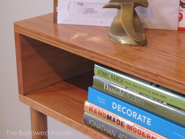 Mid-Century Modern Sofa Table Detail
