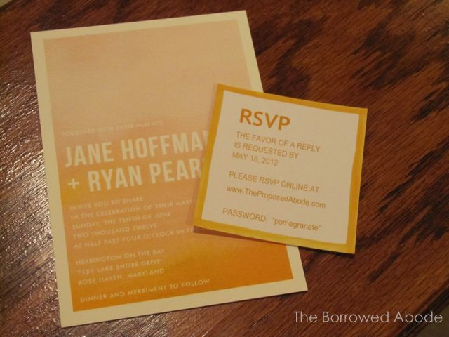Ombre Wedding Invite RSVP Card