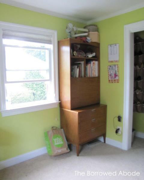 Office Secretary Before Curtains