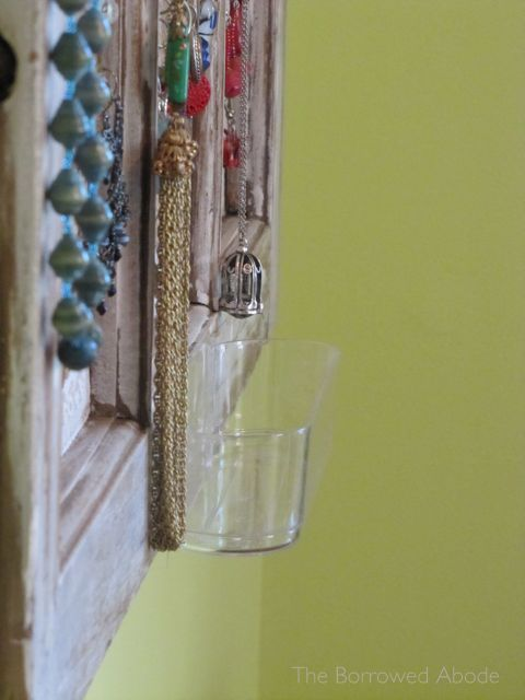 Command Clear Caddy on Jewelry Organizer | The Borrowed Abode