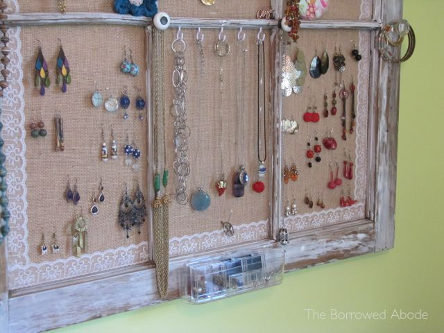 Window Frame Jewelry Organizer | The Borrowed Abode