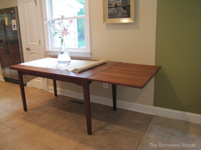 Mid-Century Dining Table Leaf Extended 2