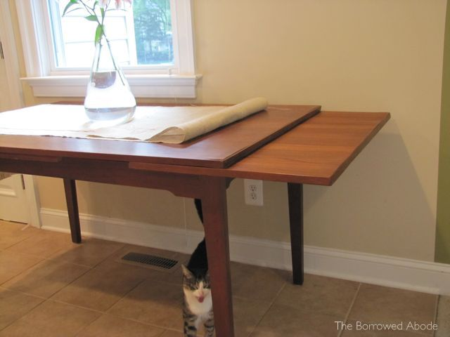 Mid-Century Dining Table Extension Leaves