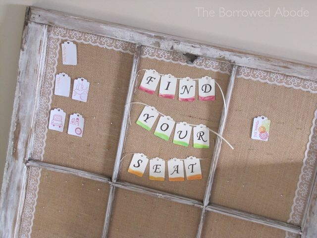 Window Frame Escort Card Display 3