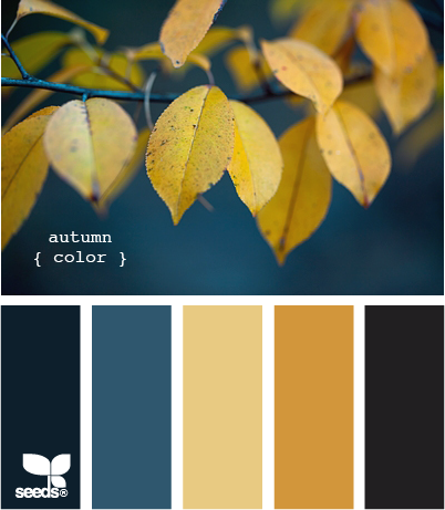 AutumnColor Teal Gold Color Palette via Design Seeds