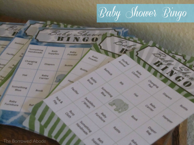 Safari Theme Baby Shower Bingo Printable  | TheBorrowedAbode.com