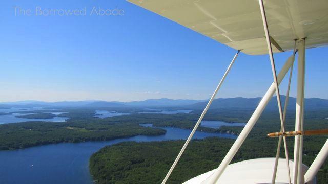 Lake Winnipesaukee Aerial View Lakes Biplane