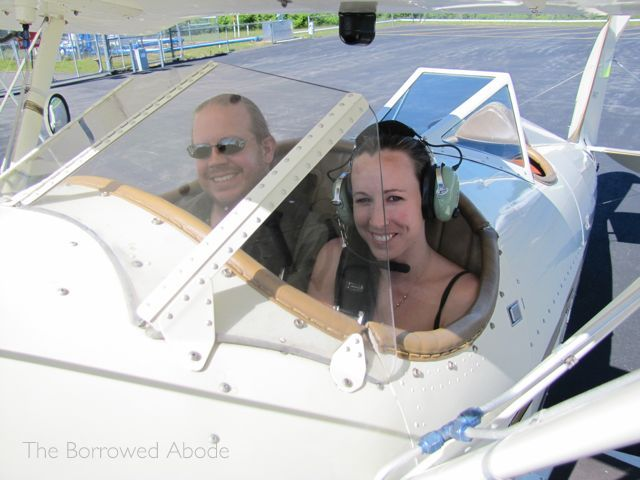 The Borrowed Abode Biplane Ride