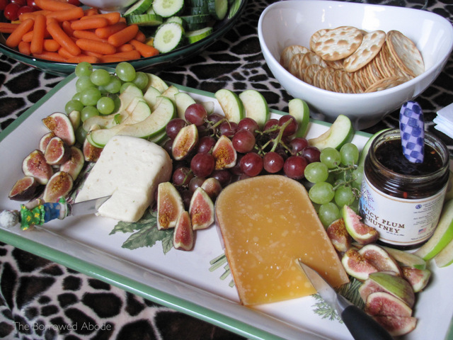 Cheese Platter with Figs and Jams | TheBorrowedAbode.com