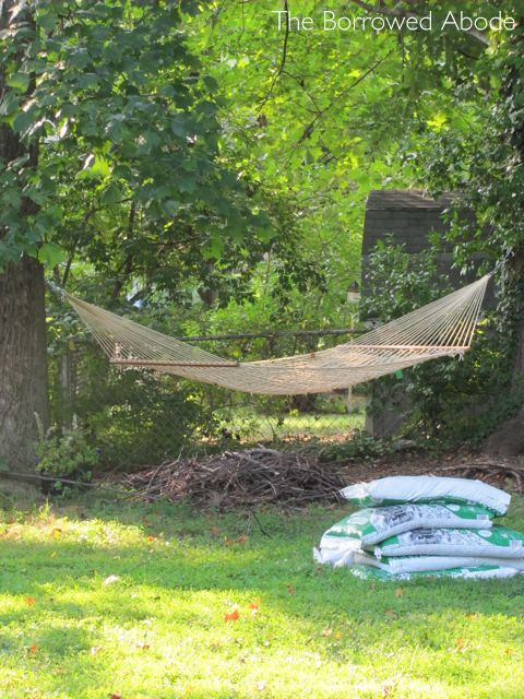 Remaining Brush Backyard Hammock