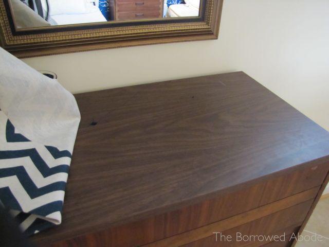 Roadside Find Mid Century Dresser Veneer Top